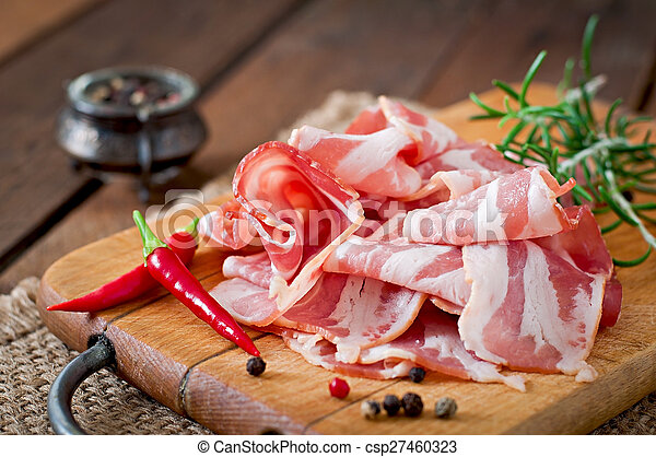 Slices of bacon - csp27460323