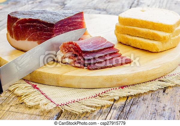 Slices of Italian Speck - csp27915779