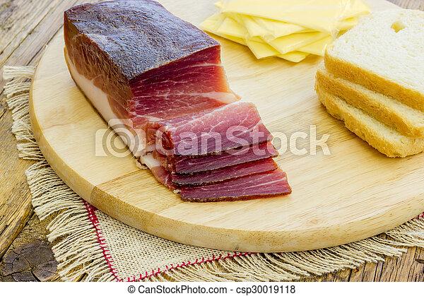 Slices of Italian Speck - csp30019118
