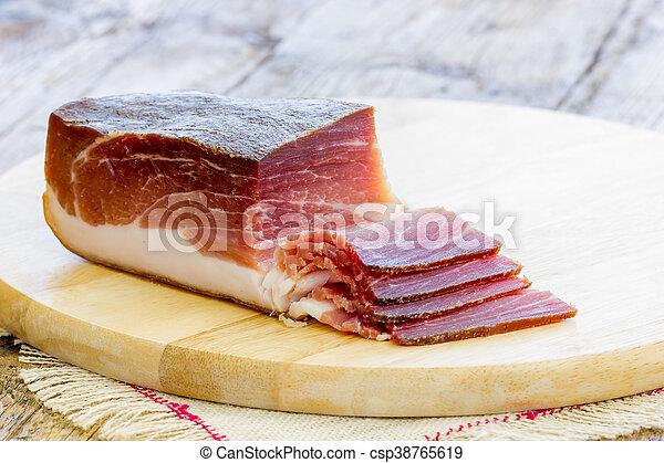 Slices of Italian Speck - csp38765619