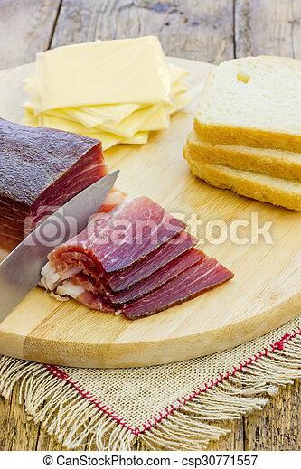 Slices of Italian Speck - csp30771557
