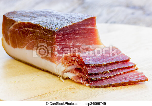 Slices of Italian Speck - csp34059749