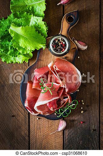 Slices of Prosciutto - csp31068610