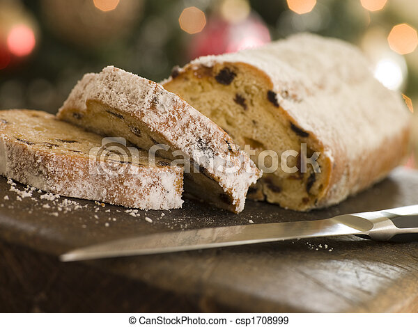 Slices of Stollen Cake - csp1708999