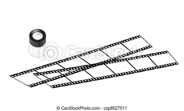 slide loupe and slide films - csp8527011