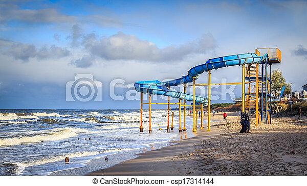 Slide on the beach - csp17314144