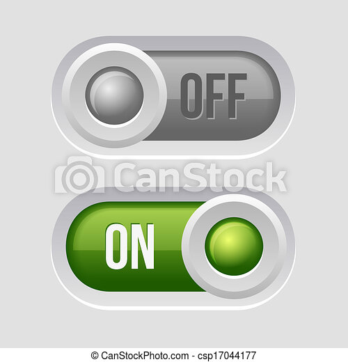 sliders, interruptor, desligado, toggle, position. - csp17044177