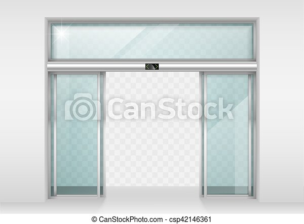 Sliding Glass Automatic Doors Double Sliding Glass Doors With
