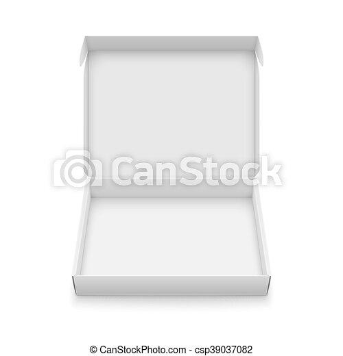 Slim cardboard box template. Blank slim cardboard box template with ...