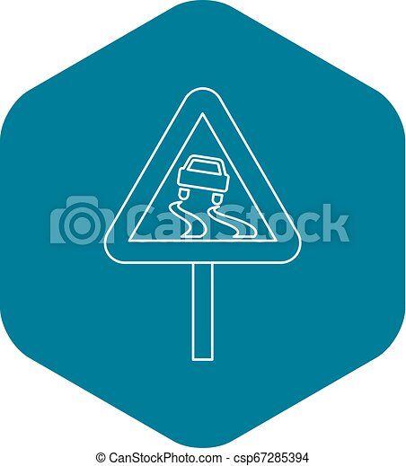Slippery Road Sign Png , Free Transparent Clipart - ClipartKey