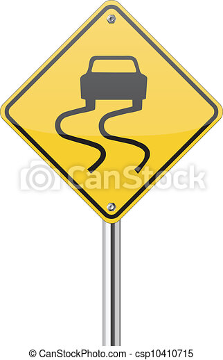 Vector Slippery Road Sign Royalty Free Cliparts, Vectors, And Stock  Illustration. Image 14837355.