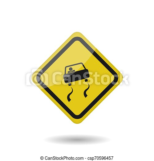 Slippery Road Clipart Free