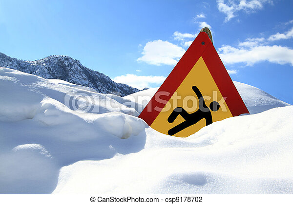 ?Slippery Surface? road sign  - csp9178702