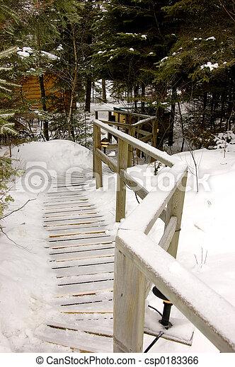 Slippery Walk - csp0183366