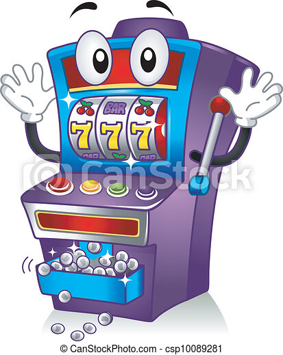 slot machine mascot mascot illustration featuring a slot machine rh canstockphoto com slot machine clip art images animated slot machine clip art