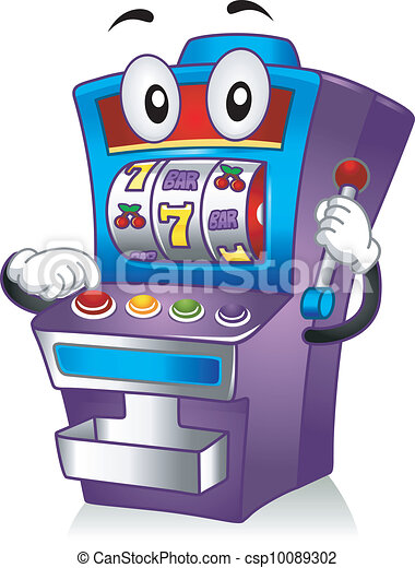 slot machine mascot mascot illustration featuring a slot machine rh canstockphoto com slot machine border clip art slot machine clip art black and white