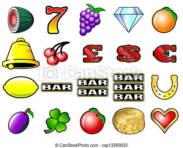 Slot Machine Symbols - csp13293633