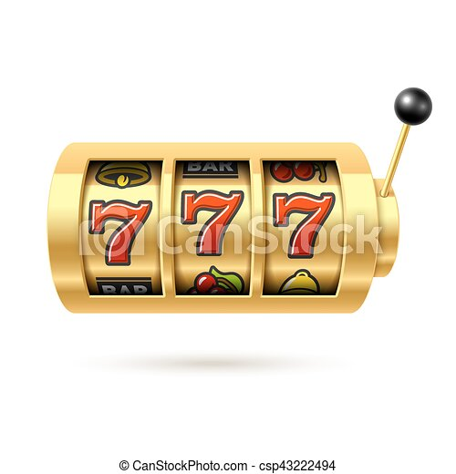Slot machine with lucky sevens jackpot - csp43222494