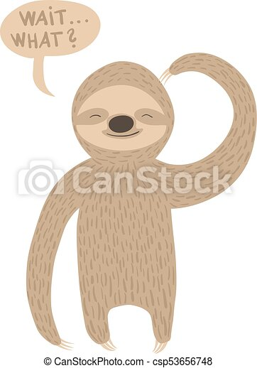 Sloth illustration - csp53656748