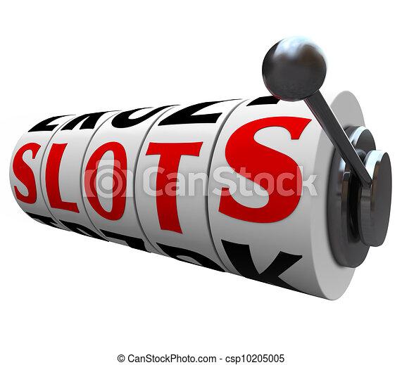 Slots Word Casino Slot Machine Wheels Handle - csp10205005