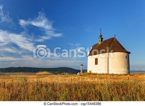 Slovakia - Holy cross baroque chapel - csp15446386