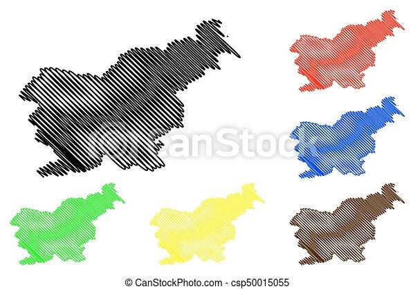 Slovenia map vector - csp50015055