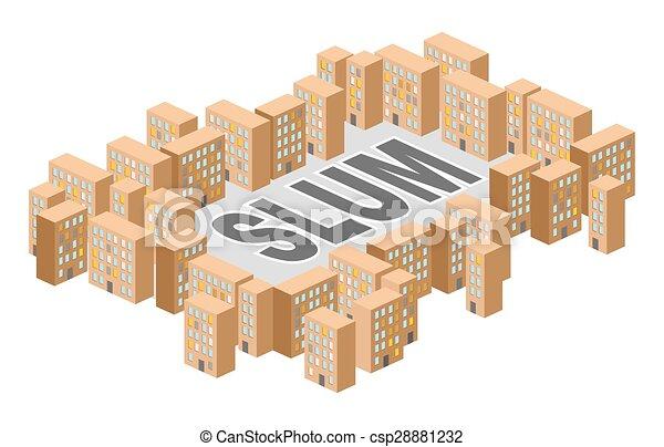 Vectors of slum district building in form of letters ghetto poor slum district building in form of letters ghetto poor district on outskirts of city sciox Images