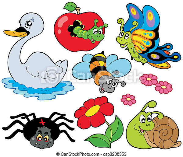 small animals collection 9 vector illustration vectors search rh canstockphoto com  vector clipart collection pack