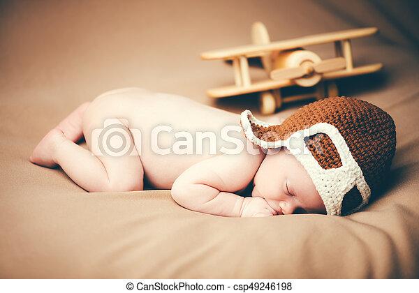 small baby pilot - csp49246198