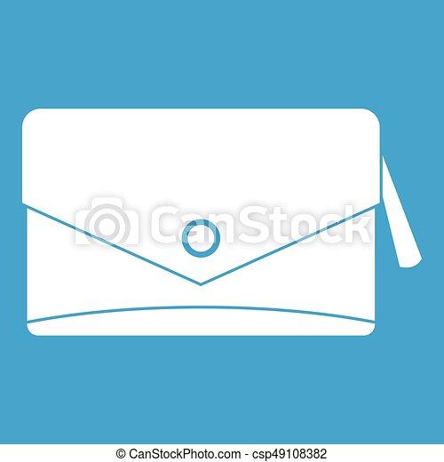 Small bag icon white - csp49108382