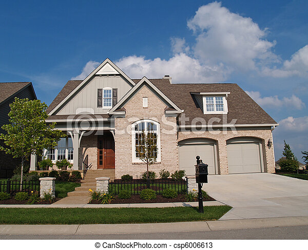 Small Beige Brick Home Small Beige Brick Home With A Two