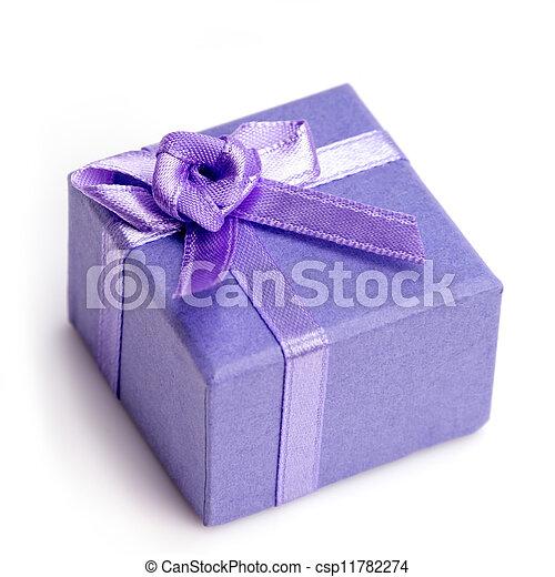 Small Birthday Gift Box Small Purple Birthday Gift Box With Bow
