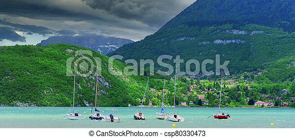 Small boats on the lake - csp80330473