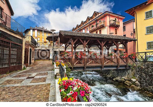 small bridge in Pontedilegno - csp24290524
