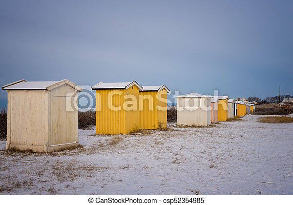 small buildings in winter - csp52354985