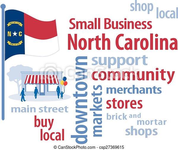 Small Business North Carolina, Flag - csp27369615