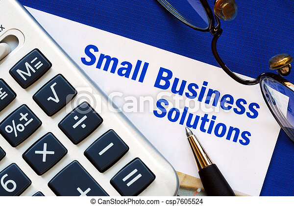 Small Business solutions  - csp7605524