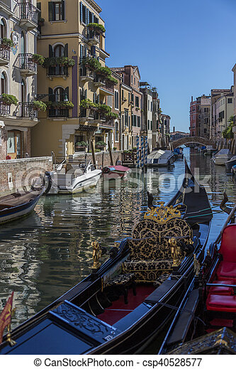 Small canal in Venice - Italy - csp40528577