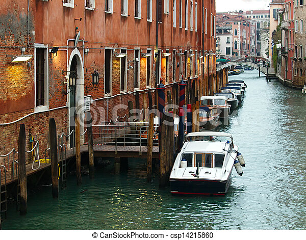 Small canal in Venice, Italy. - csp14215860