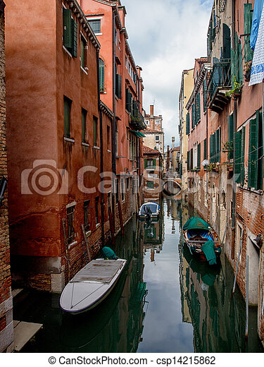Small canal in Venice, Italy. - csp14215862
