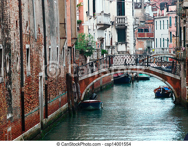 Small canal in Venice, Italy. - csp14001554