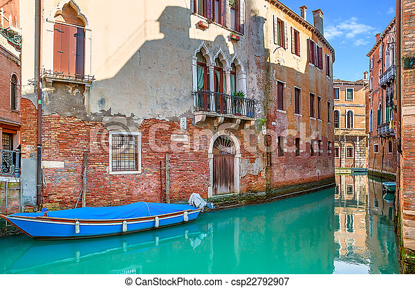 Small canal in Venice, Italy. - csp22792907