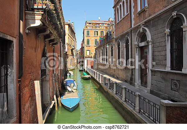 Small canal. Venice, Italy. - csp8762721