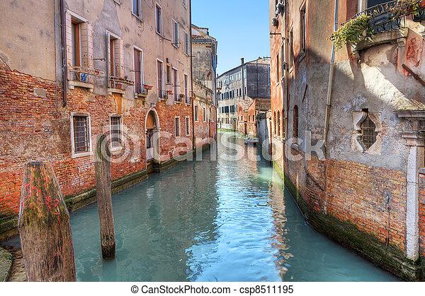 Small canal. Venice, Italy. - csp8511195