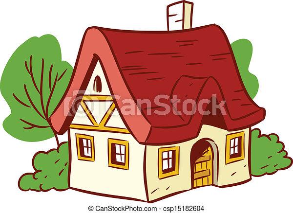 Great Small Cartoon House   Csp15182604