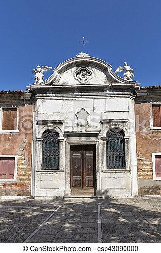 Small catholic church on Murano island. Venice, Italy. - csp43090000