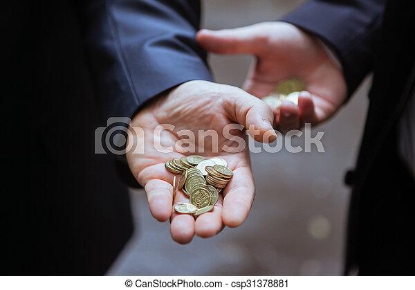 small change in the hands of men - csp31378881