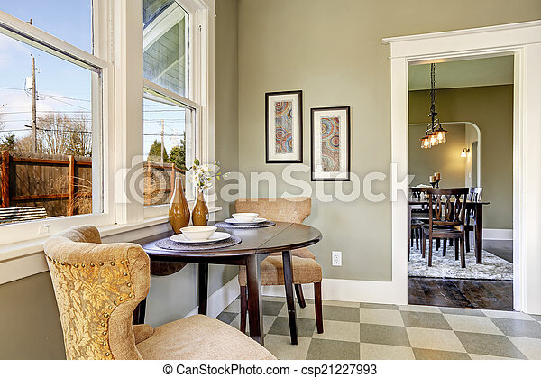 Small dining area in kitchen room - csp21227993