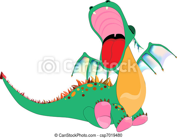 small dragon with an open toothless mouth vector clipart search rh canstockphoto com