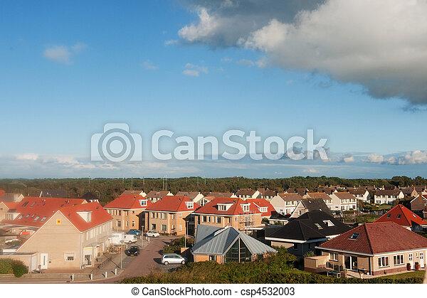 Small Dutch coast village - csp4532003
